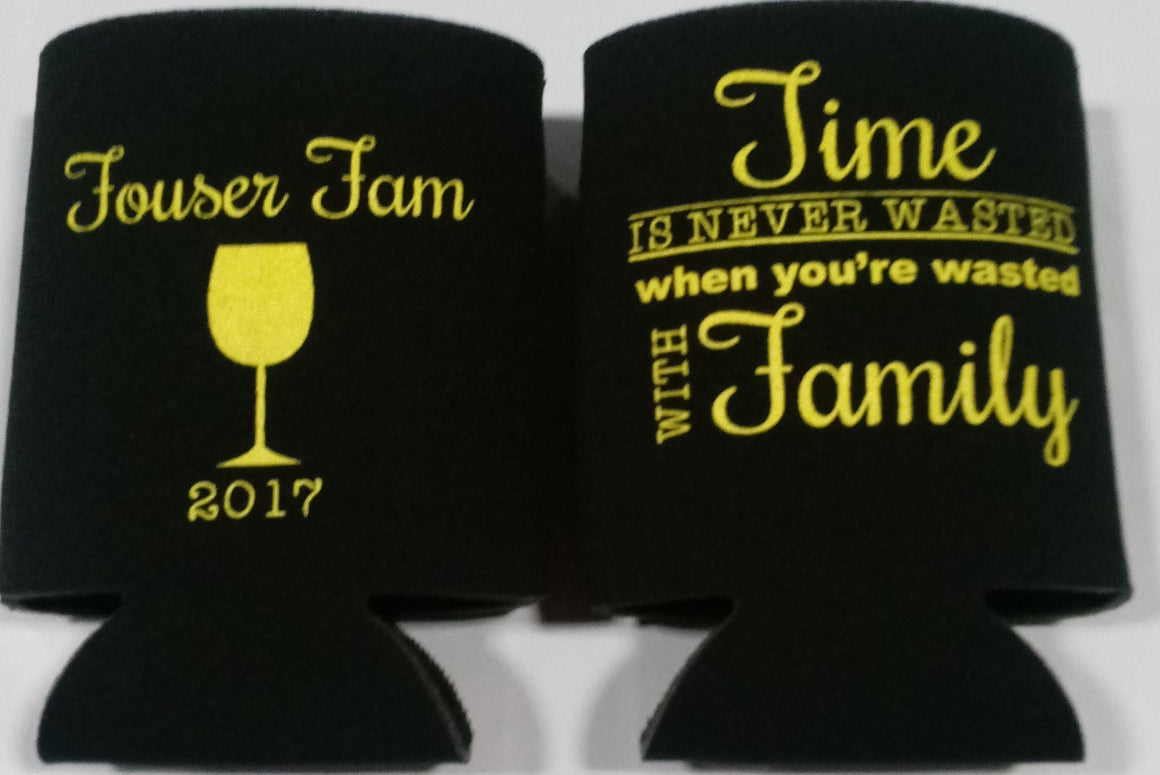 Family party favors can coolers