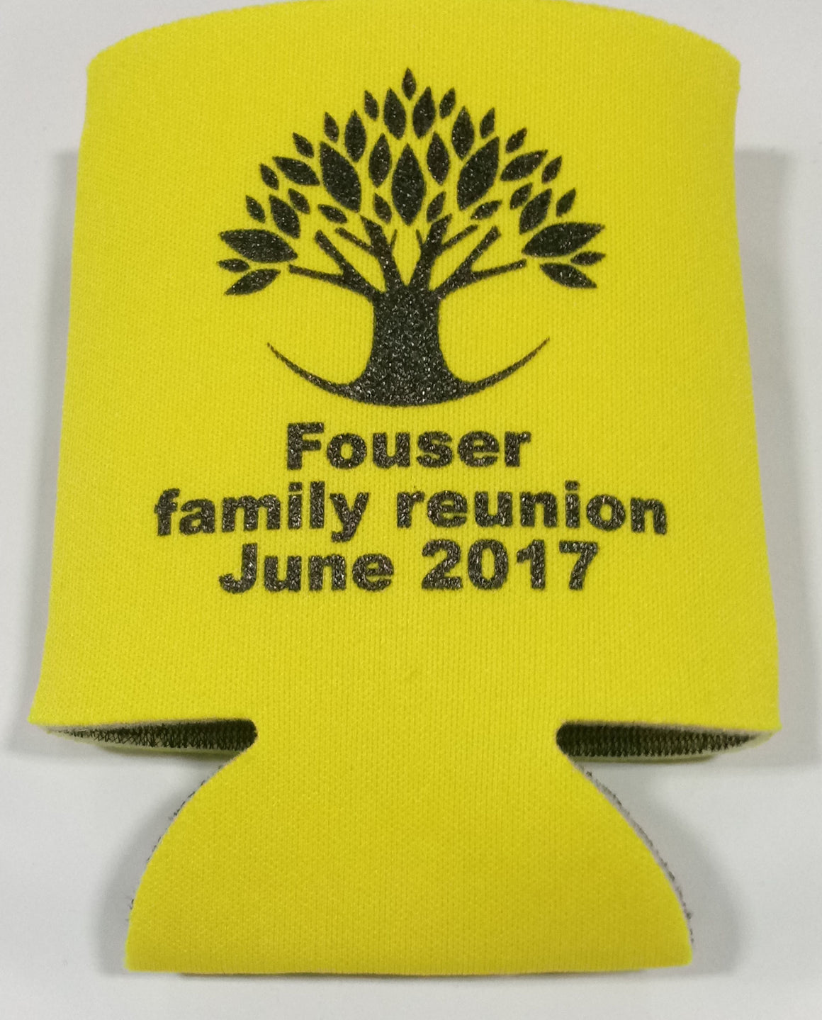 Custom Family tree reunion koozie party favors can coolers