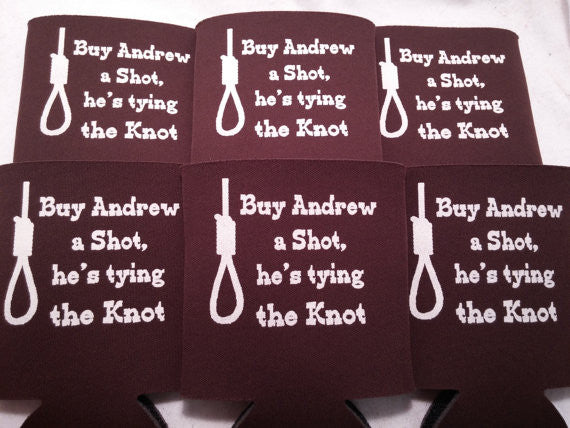 Tying the knot Bachelor Party custom favors Can Coolers b10082014-5