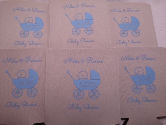baby shower carriage party favors