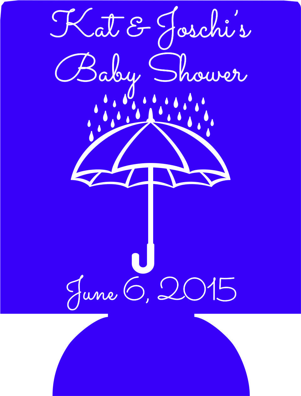 Umbrella Baby Shower Can Coolers