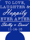 love and laughter koozie Wedding favors Can