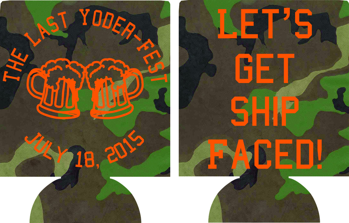 let's get Ship Faced Bachelor Party Koozie can coolies