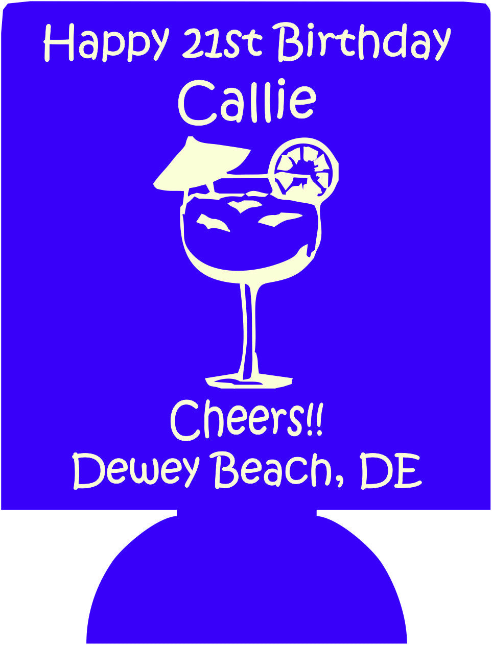 21st birthday koozie dewey beach can coolers