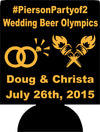 Wedding beer olympics coozie custom Can Coolers