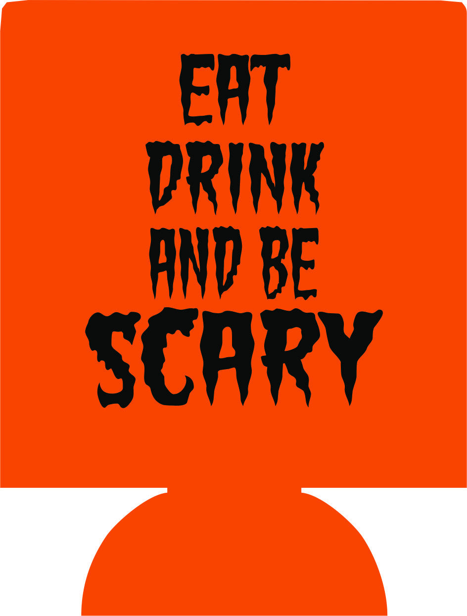 Eat Drink and Be Scary Halloween party favors can coolers 1048345797
