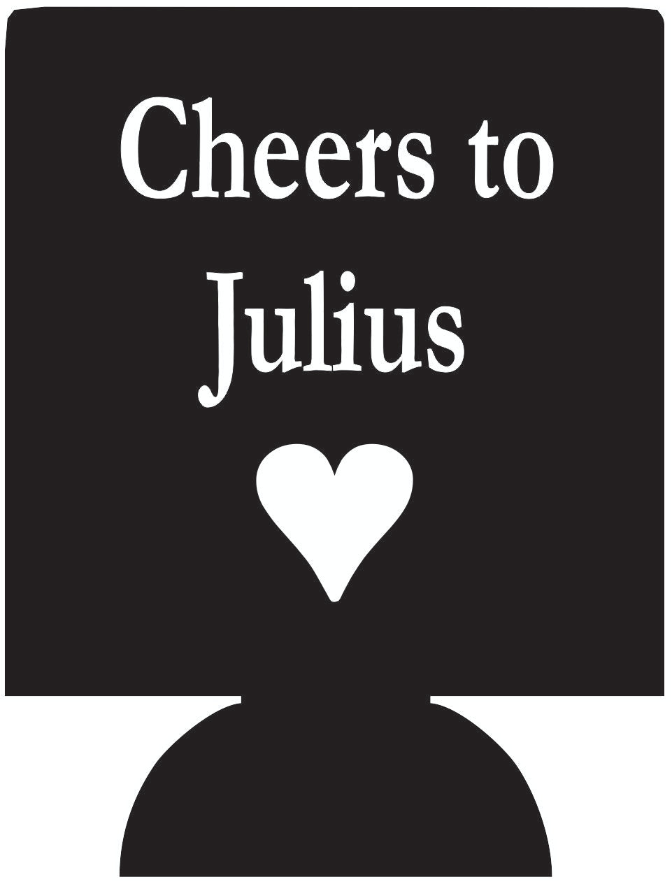 Cheers to Julius personalized can coolers 1051983183