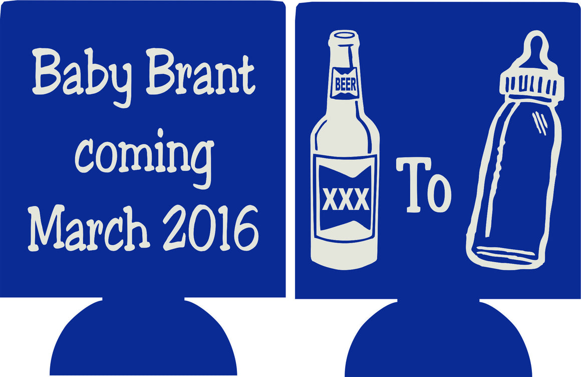 beer bottle Baby Shower favors Can Coolers