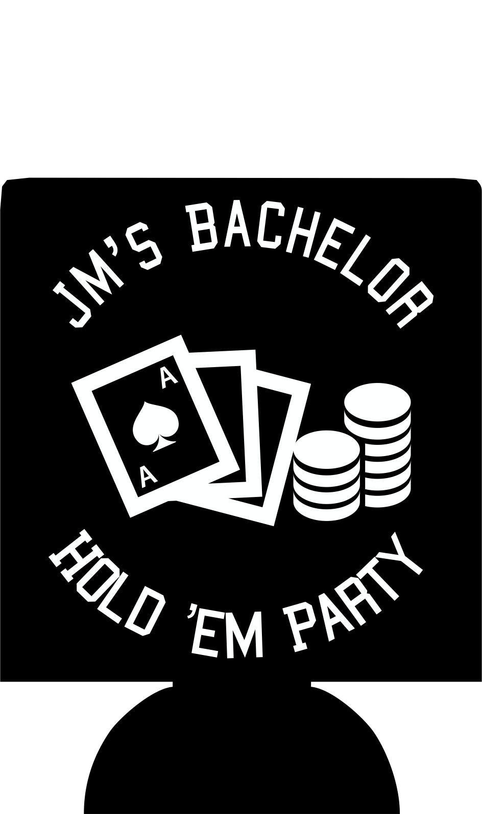 Hold em poker Bachelor party koozie