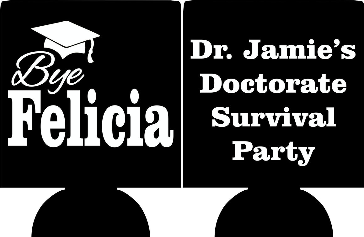 doctor survival graduation party koozie favors can coolers