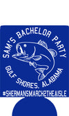 Gulf Shores Alabama fishing Bachelor party koozie