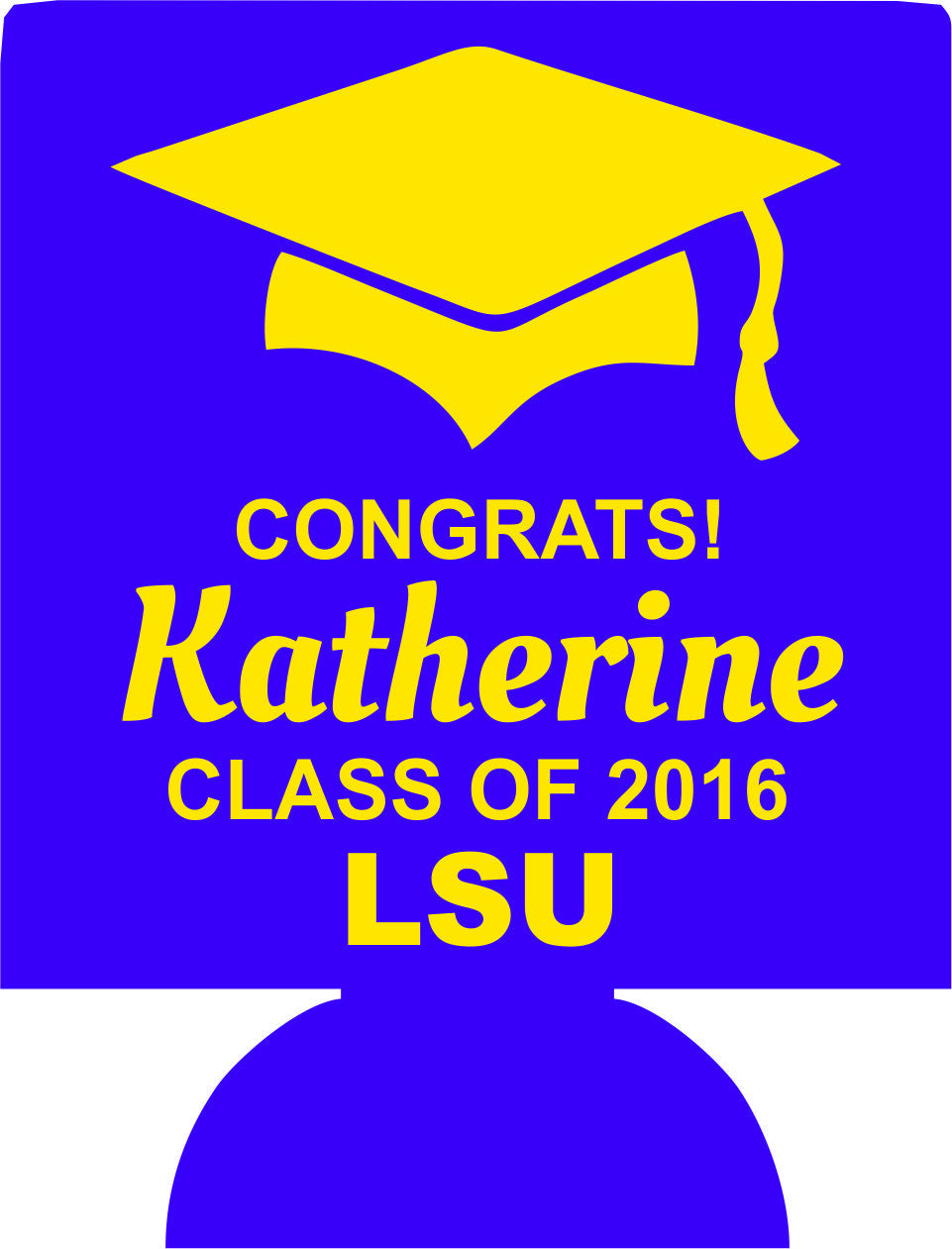 LSU Graduation koozies no minimum fast can coolers 1095561057