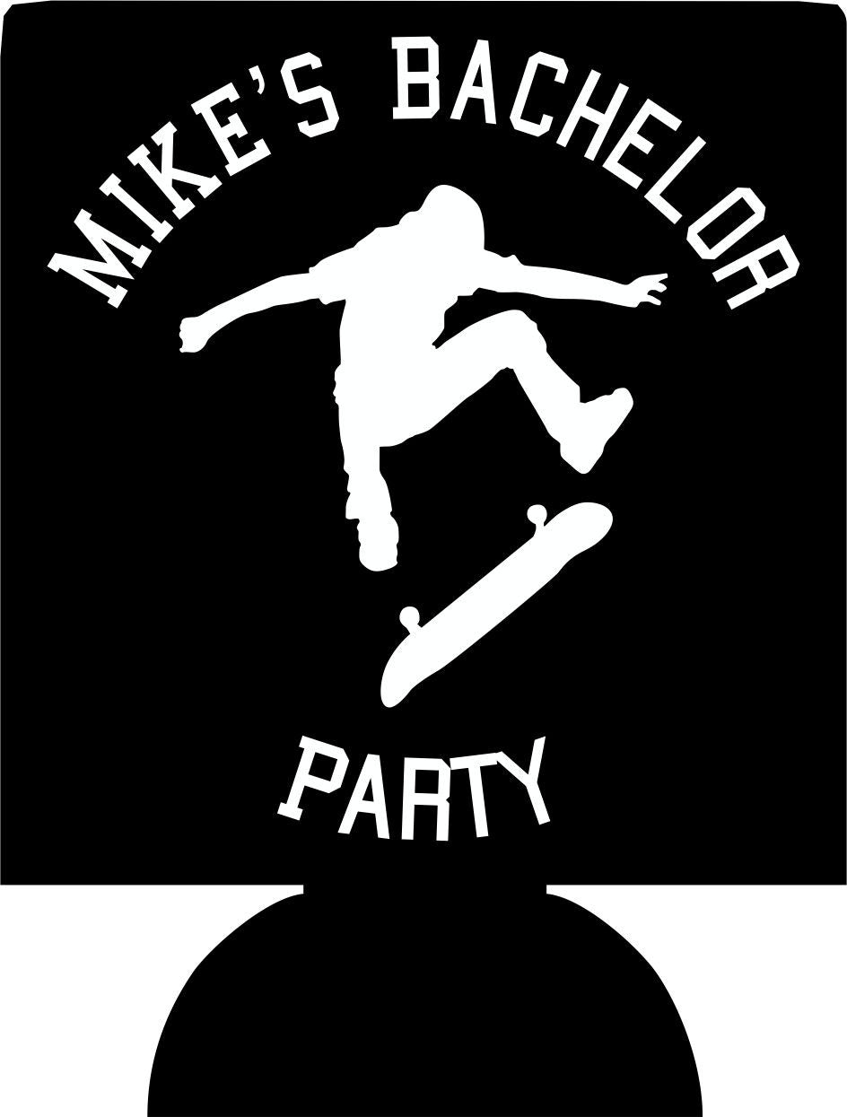skater Bachelor party Koozies custom Can Coolers
