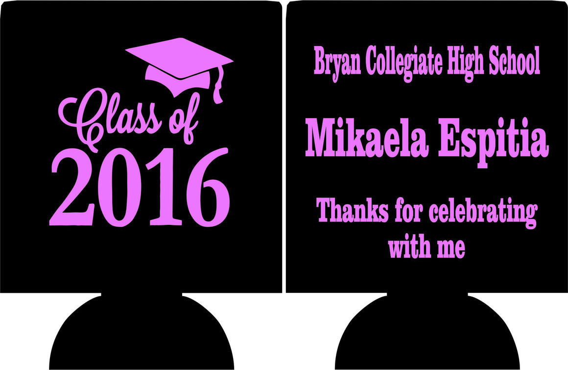Thanks for celebrating with me graduation koozies can coolers
