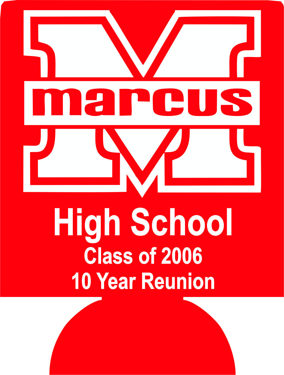 10 year School Reunion party favors can coolers 115409904