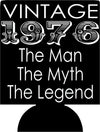 Vintage Birthday Koozies the man the myth the legend customizable can coolers