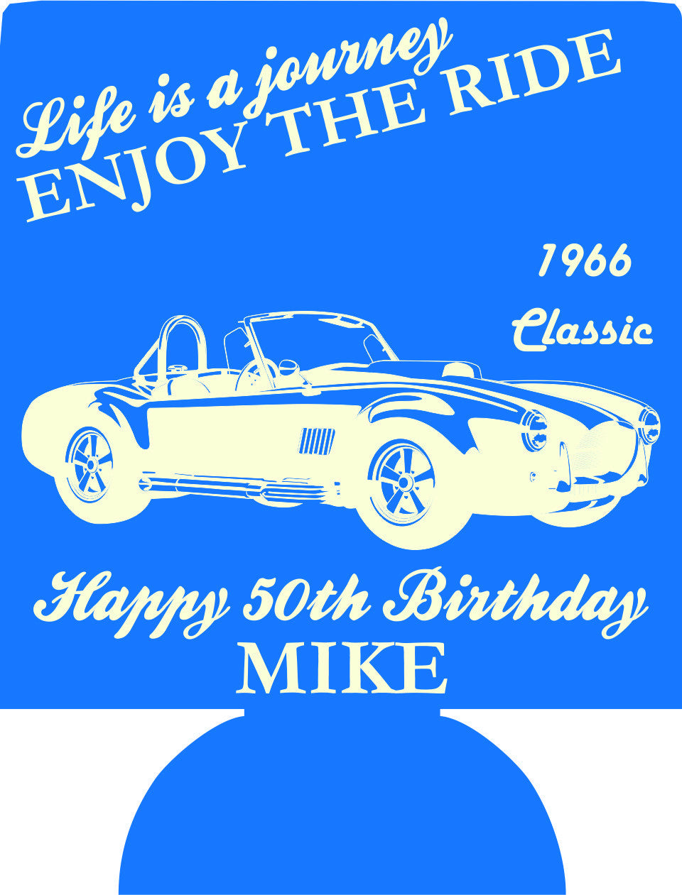 Old Classic Car 50th Birthday Party koozies can coolers