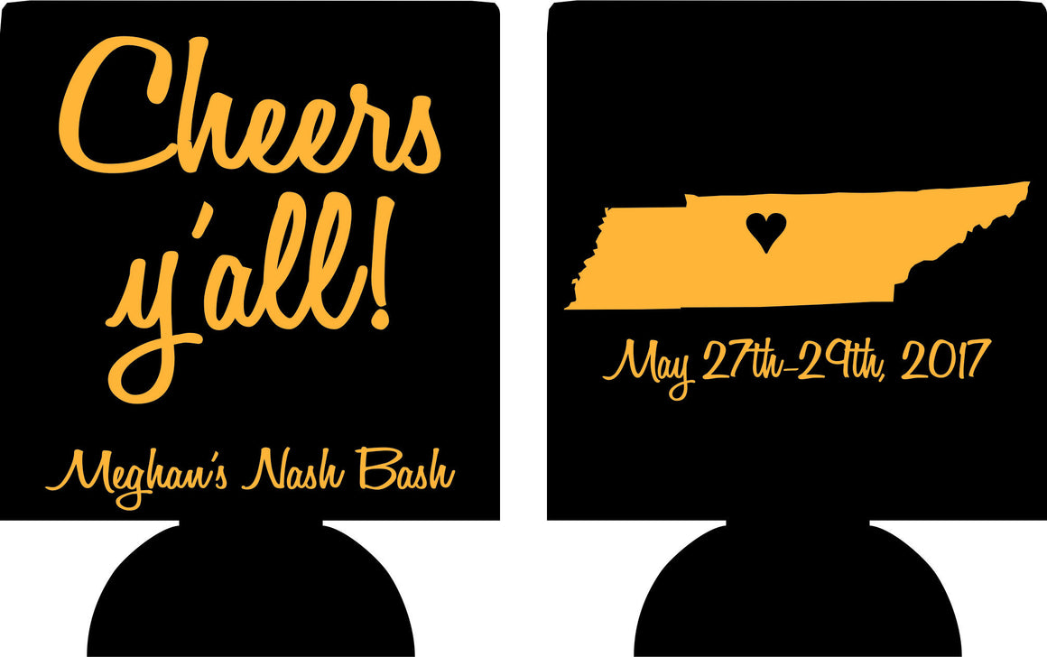 Nashville Bachelorette design ideas koozies or can coolers ...