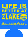 Lake 60th Birthday party favors can coolers 1119165484