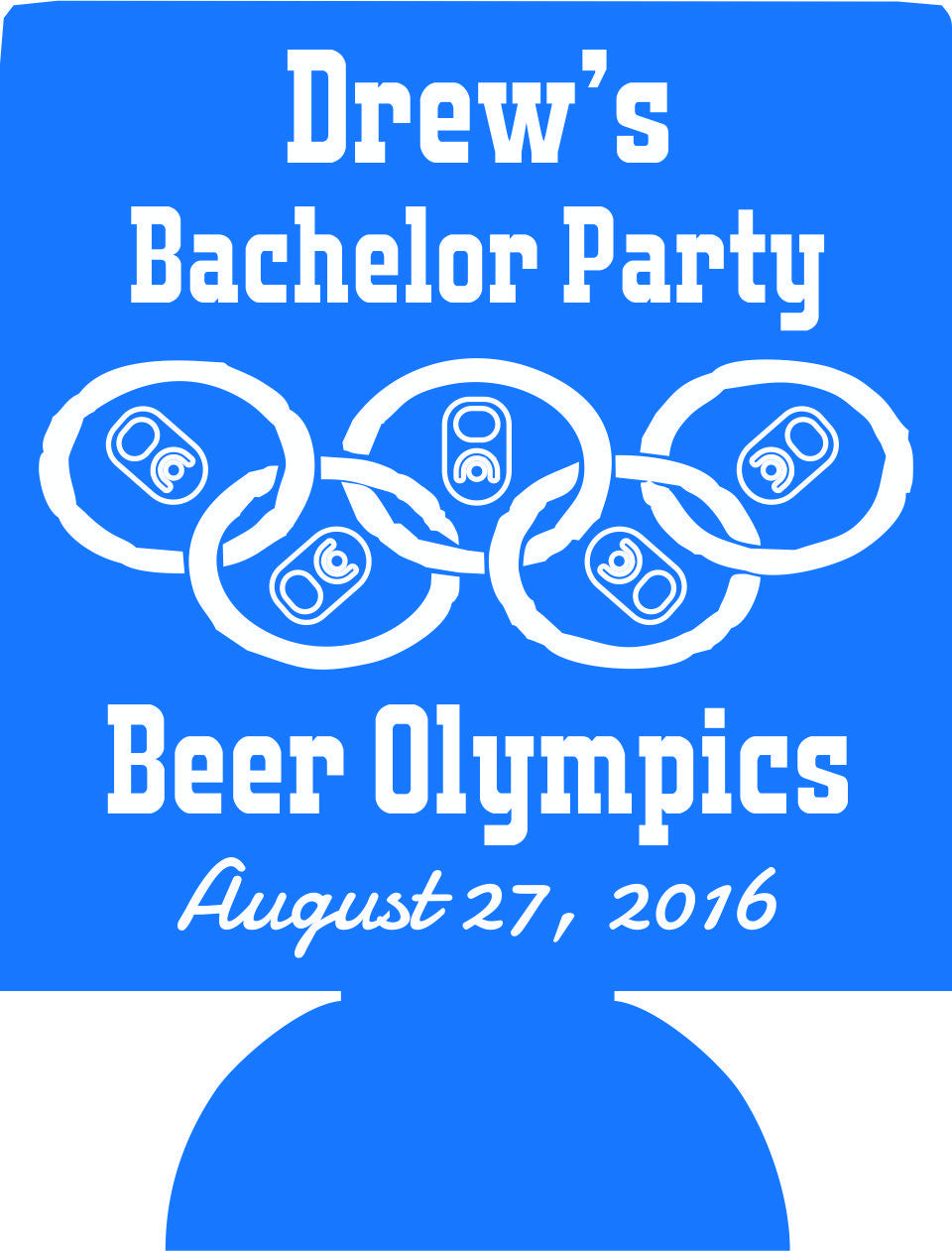 Beer Olympics Bachelor Party koozies