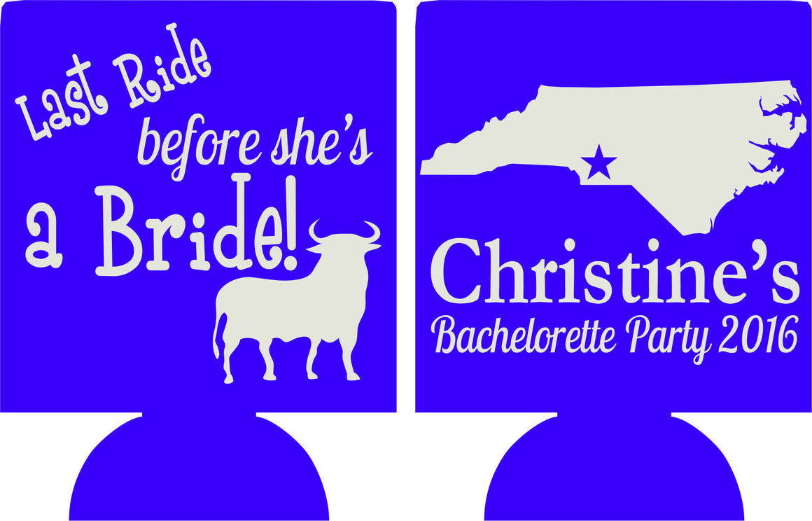 North Carolina Last Ride Bachelorette koozies