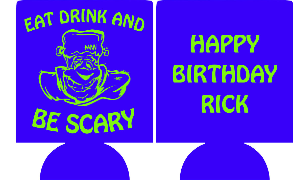 Eat Drink and be scary Birthday party favors can coolers