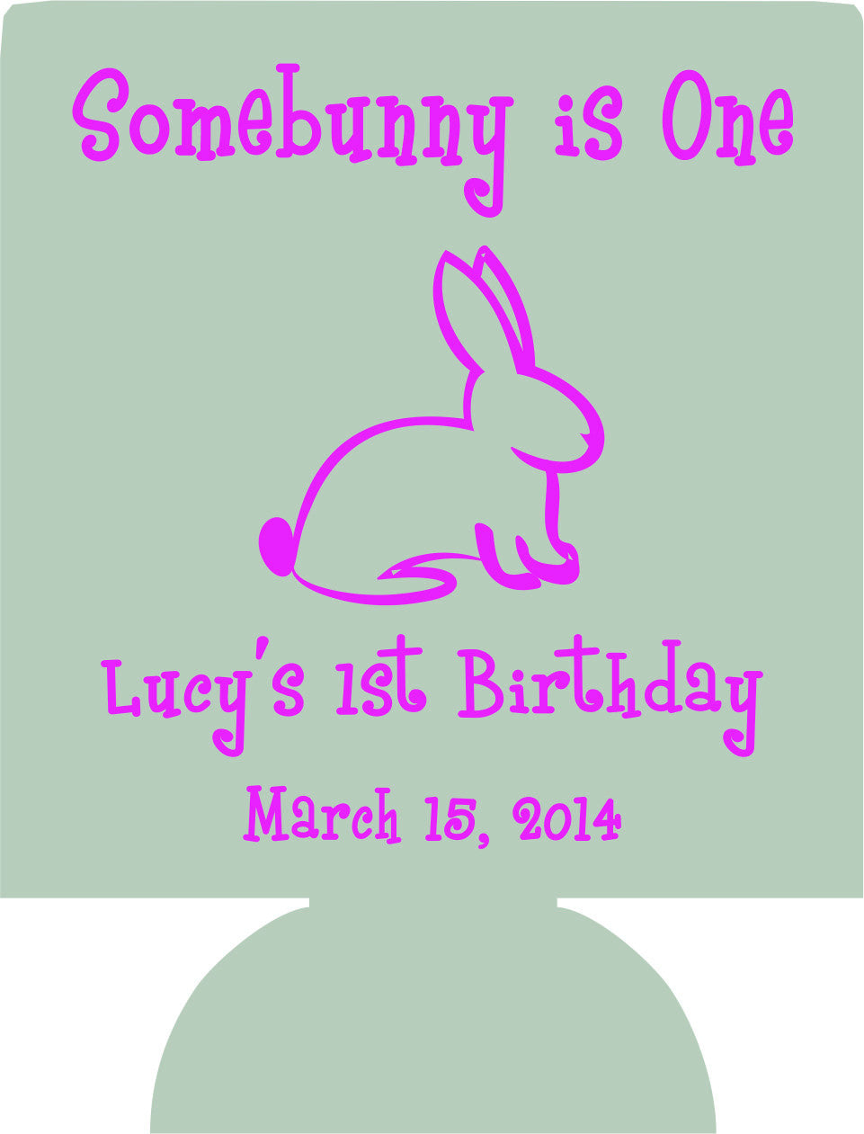 Some Bunny 1st Birthday Koozies kids personalized can coolers 128502700
