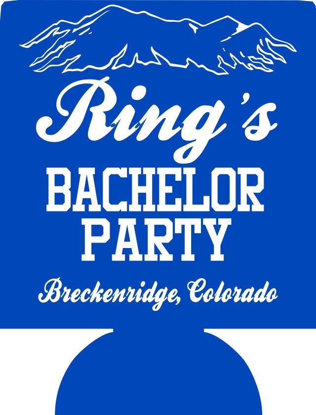 Breckenridge Colorado Bachelor Party Koozies