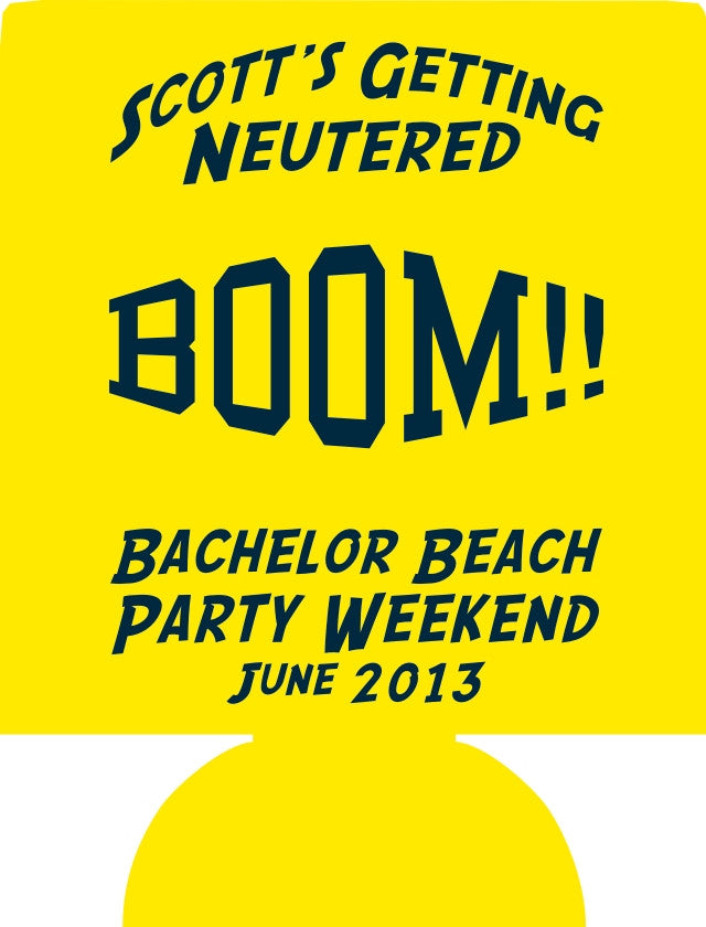 BOOM Bachelor Party Beach weekend Koozies 12910284