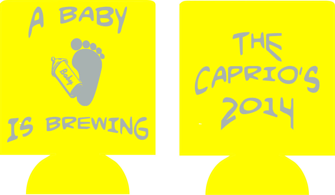 baby is brewing shower baby feet favors