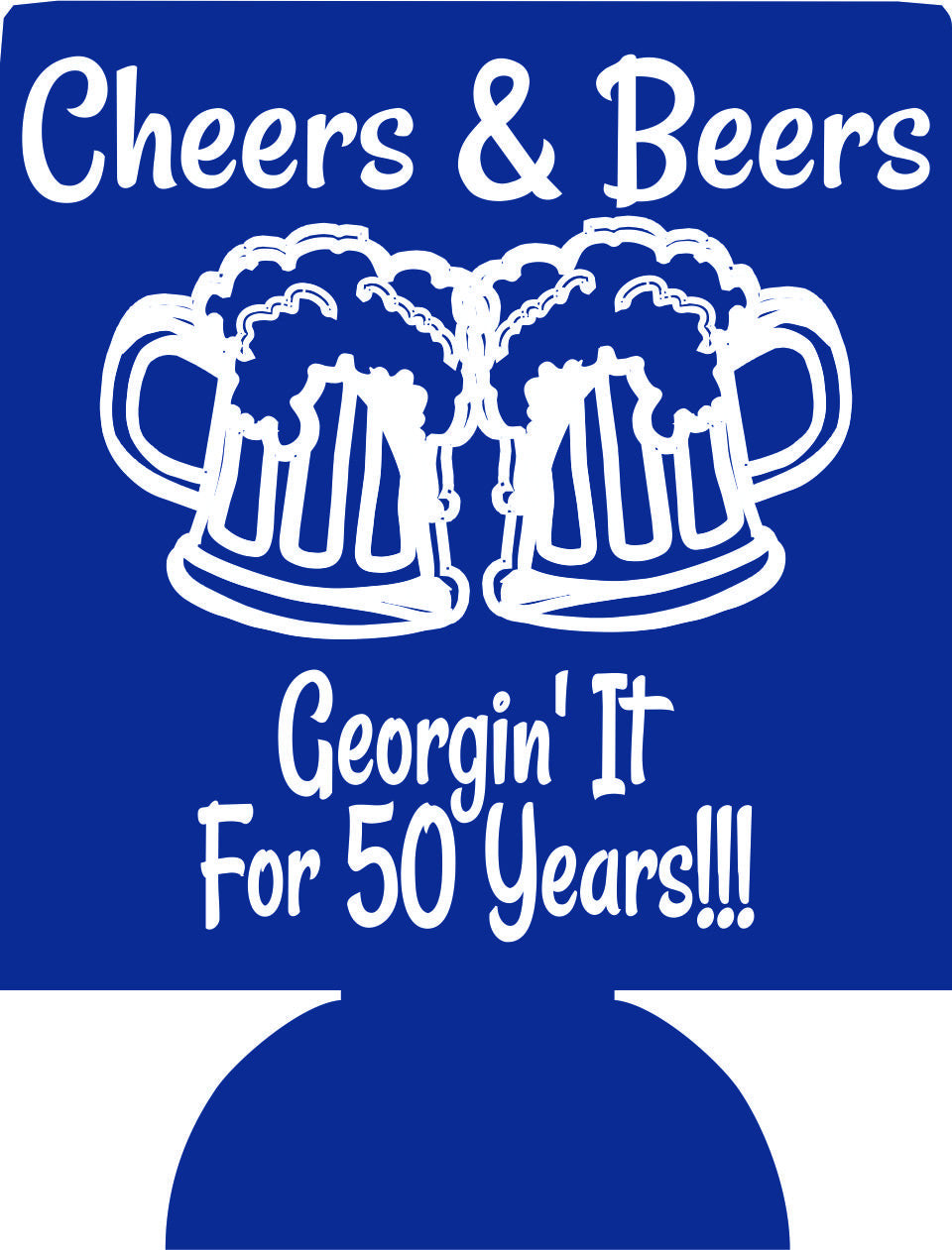 cheers and beers 50th Birthday koozies favors can coolers