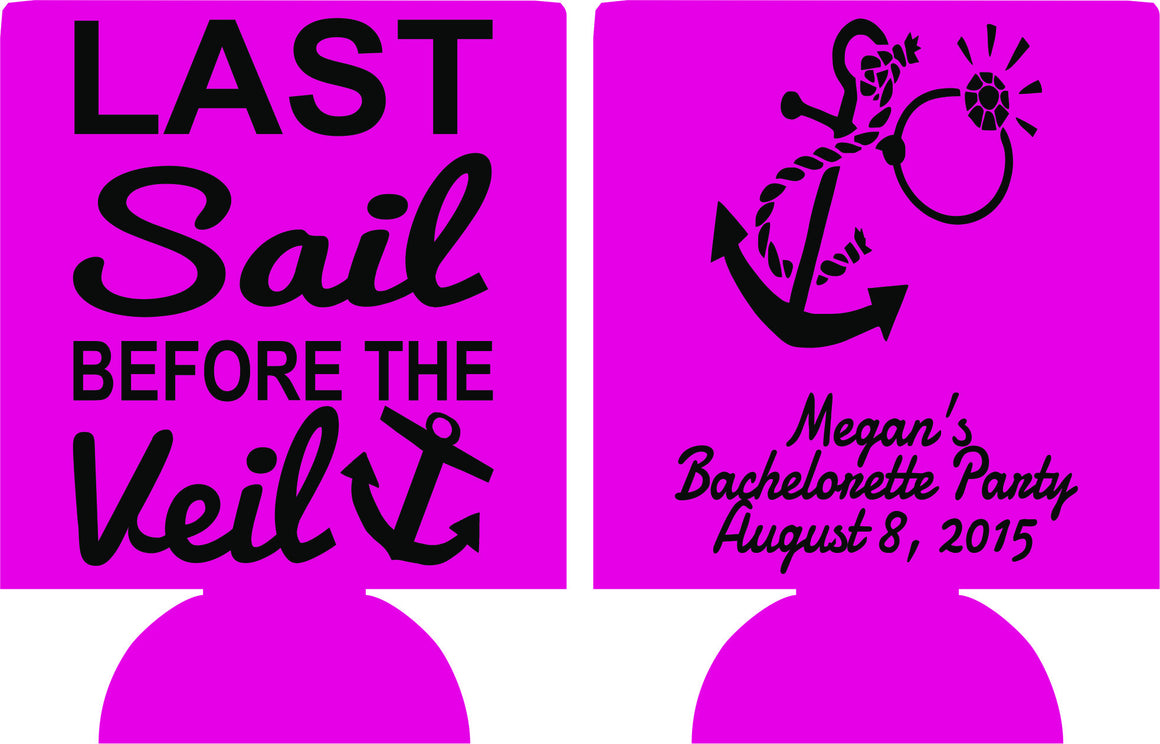 last sail before the veil bachelorette koozie