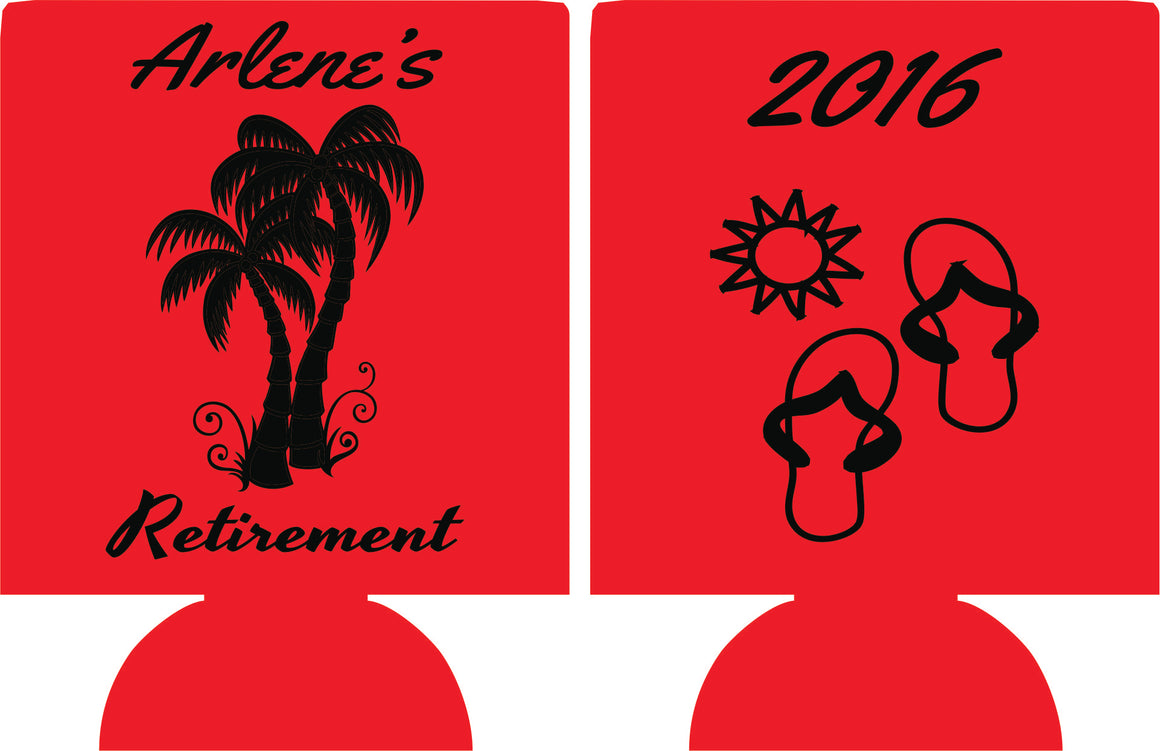 Beach Retirement koozie can coolers celebration party supplies