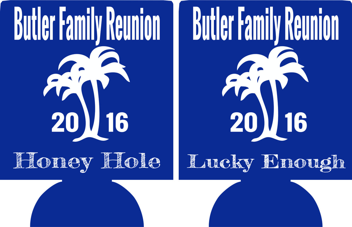 Family reunion party favors can coolers 12915123