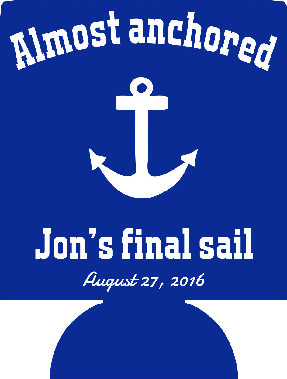 Final Sail Bachelor coozie Party