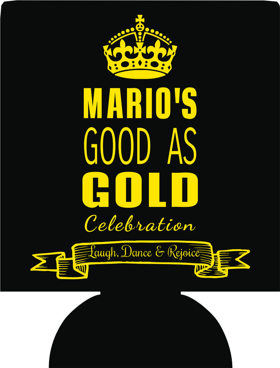 Gold Celebration 50TH Birthday Koozies crown