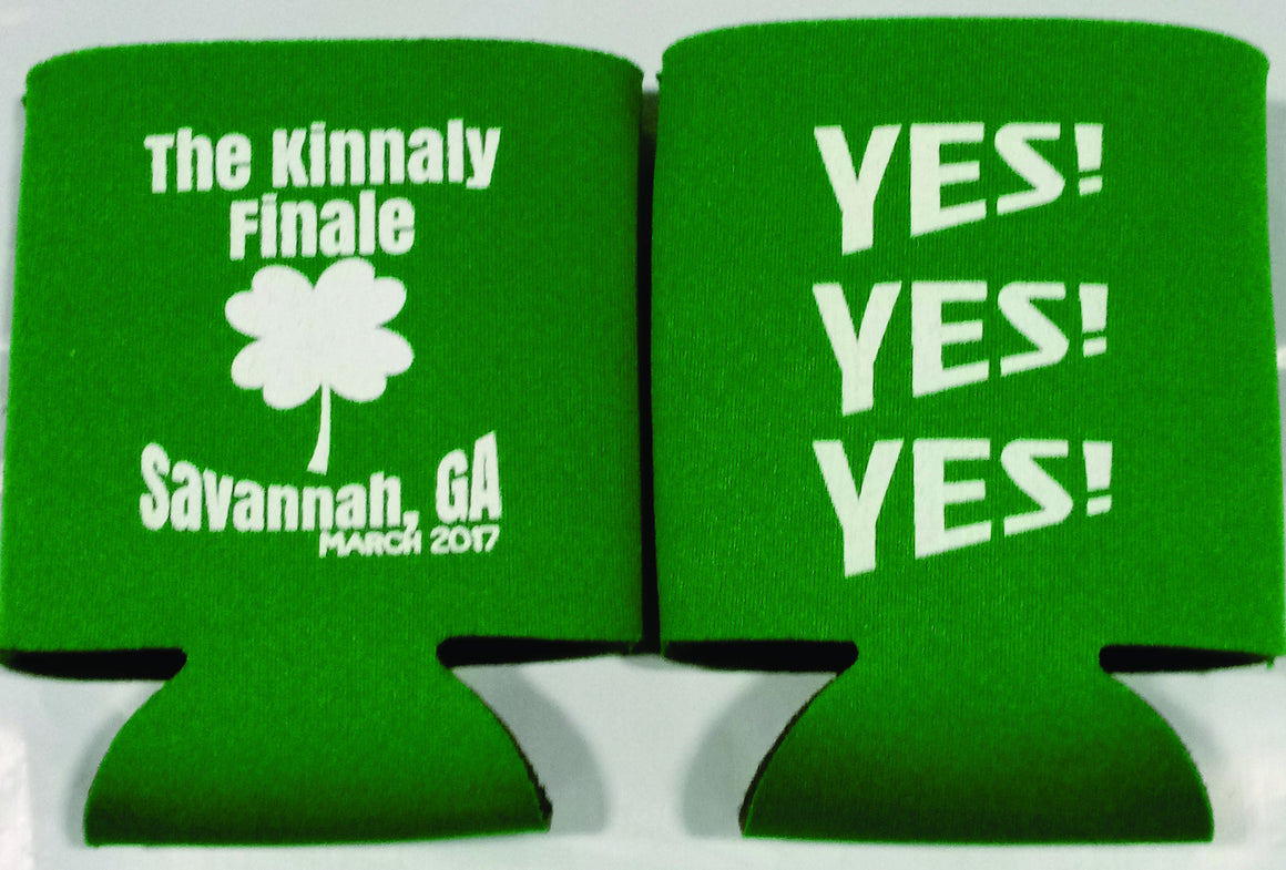 St. Patricks day Wedding koozies
