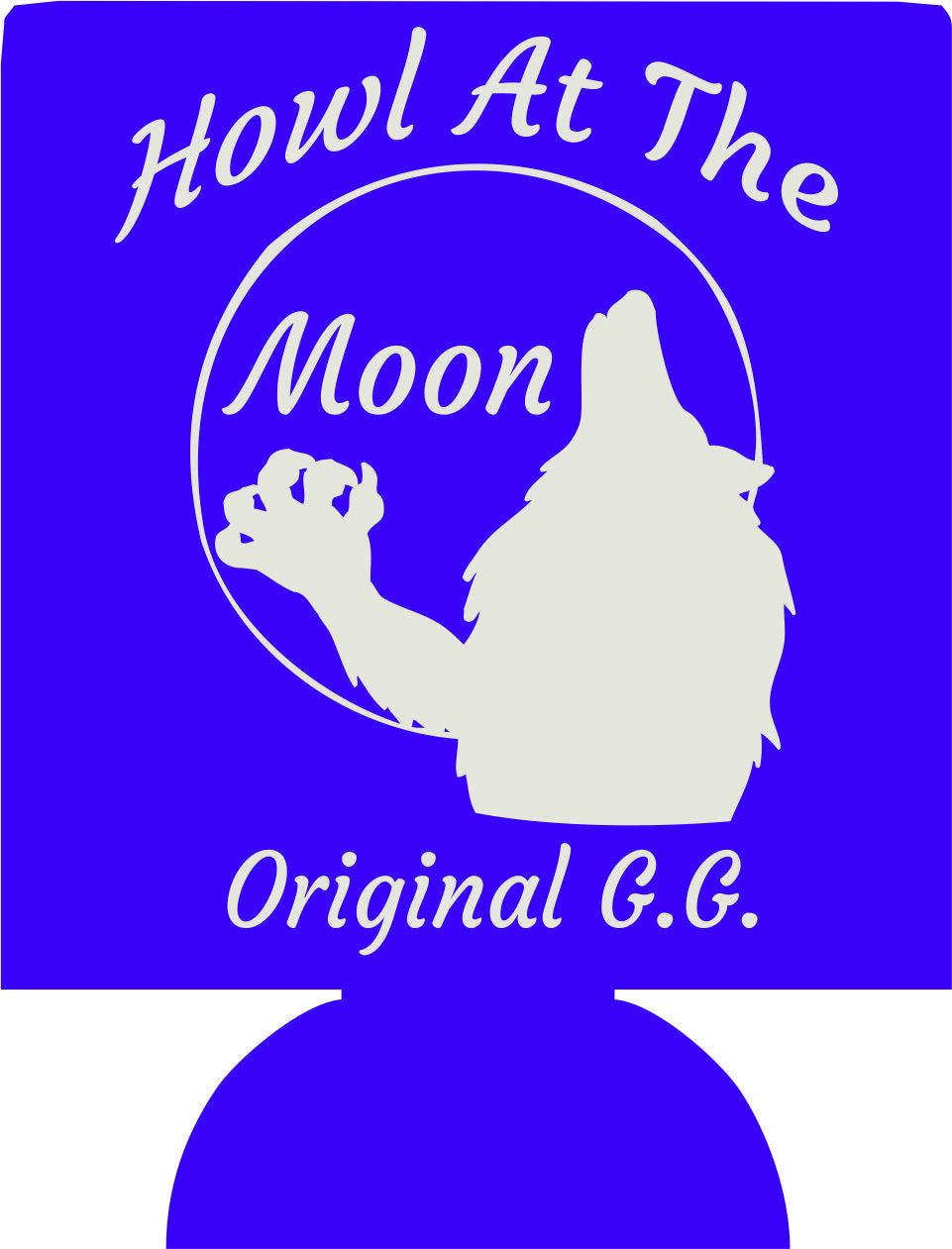 Howl at the Moon Halloween Koozies party favors can coolers 137398094