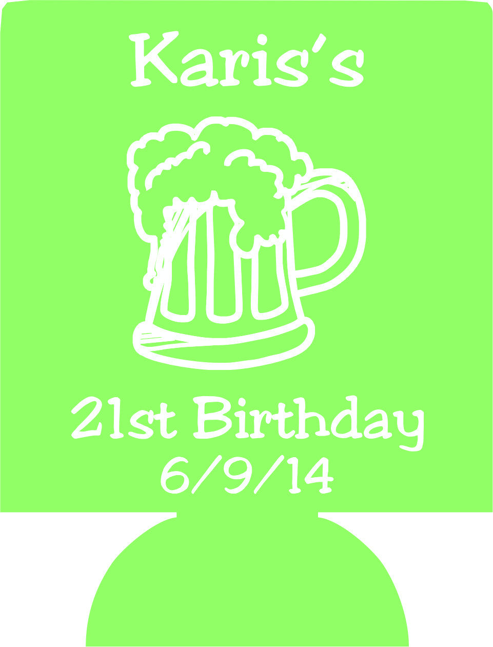 21st personalize birthday can huggers custom can coolers odysseycustom