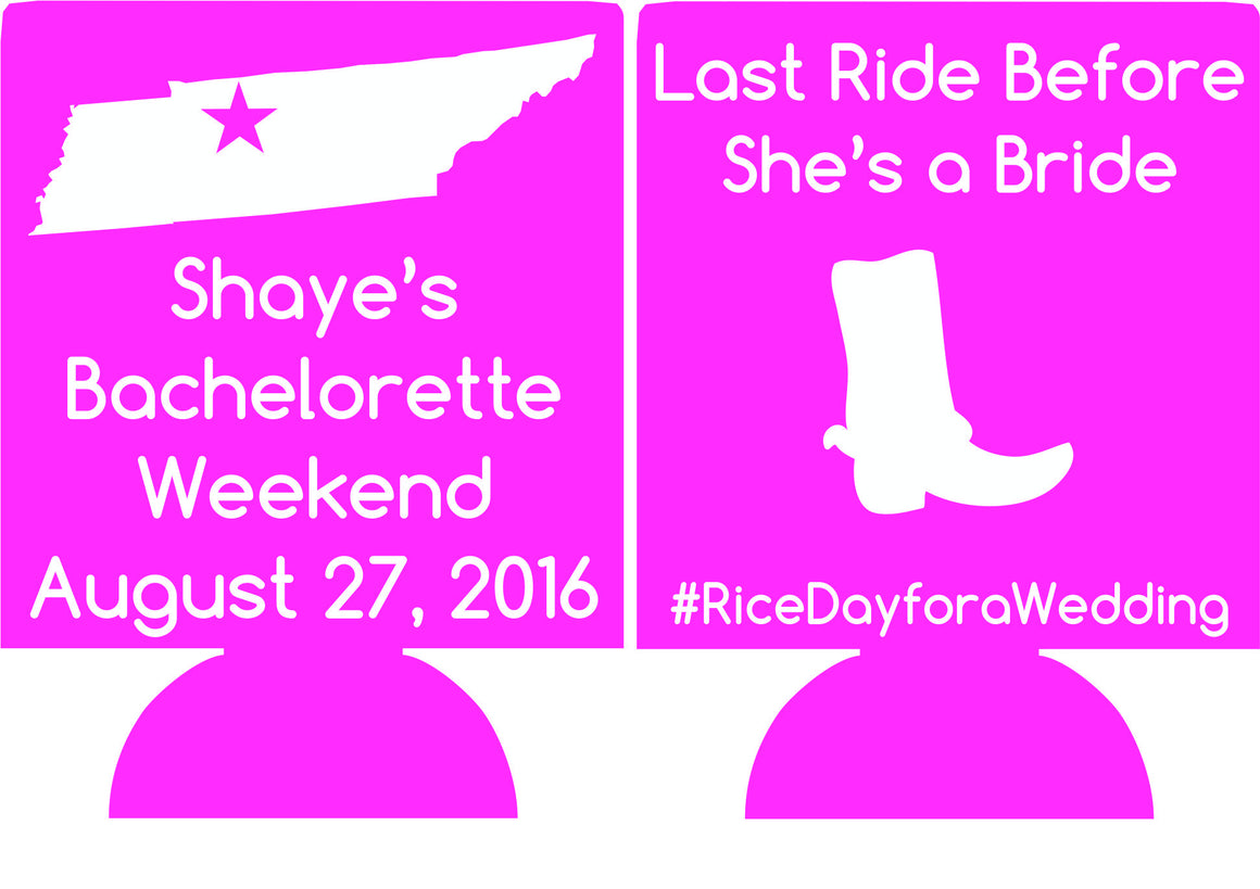 Nashville Bachelorette Party last ride Koozies