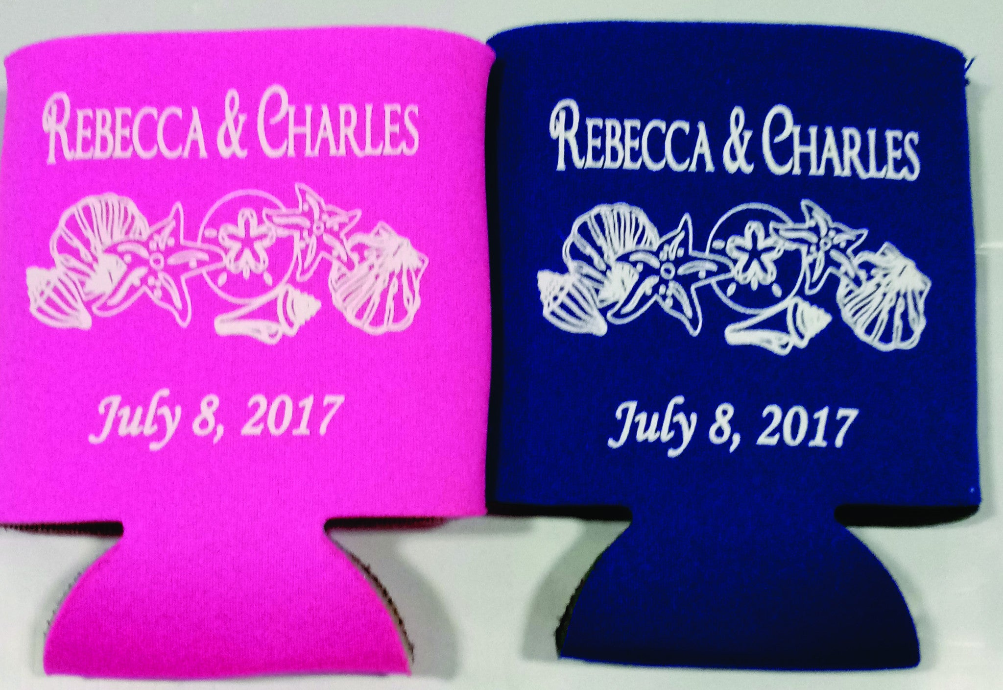Beach wedding koozies low minimums favors Can Coolers - OdysseyCustom