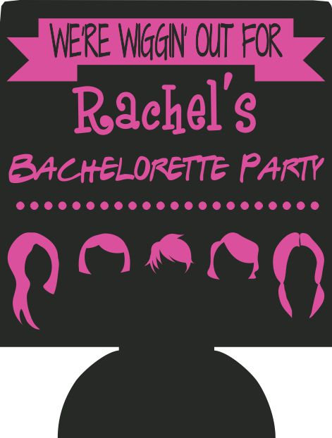 Wiggin out bachelorette party ideas can coolers personalized E06052019