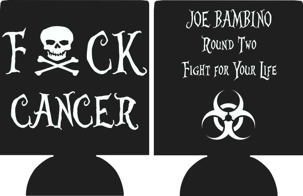F Cancer Fundraiser can coolers Personalized