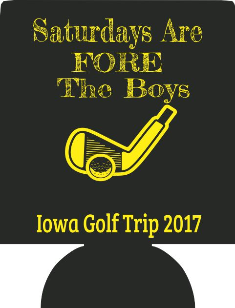 FORE  the Boys Golf Koozies no minimums custom favors Can Coolers