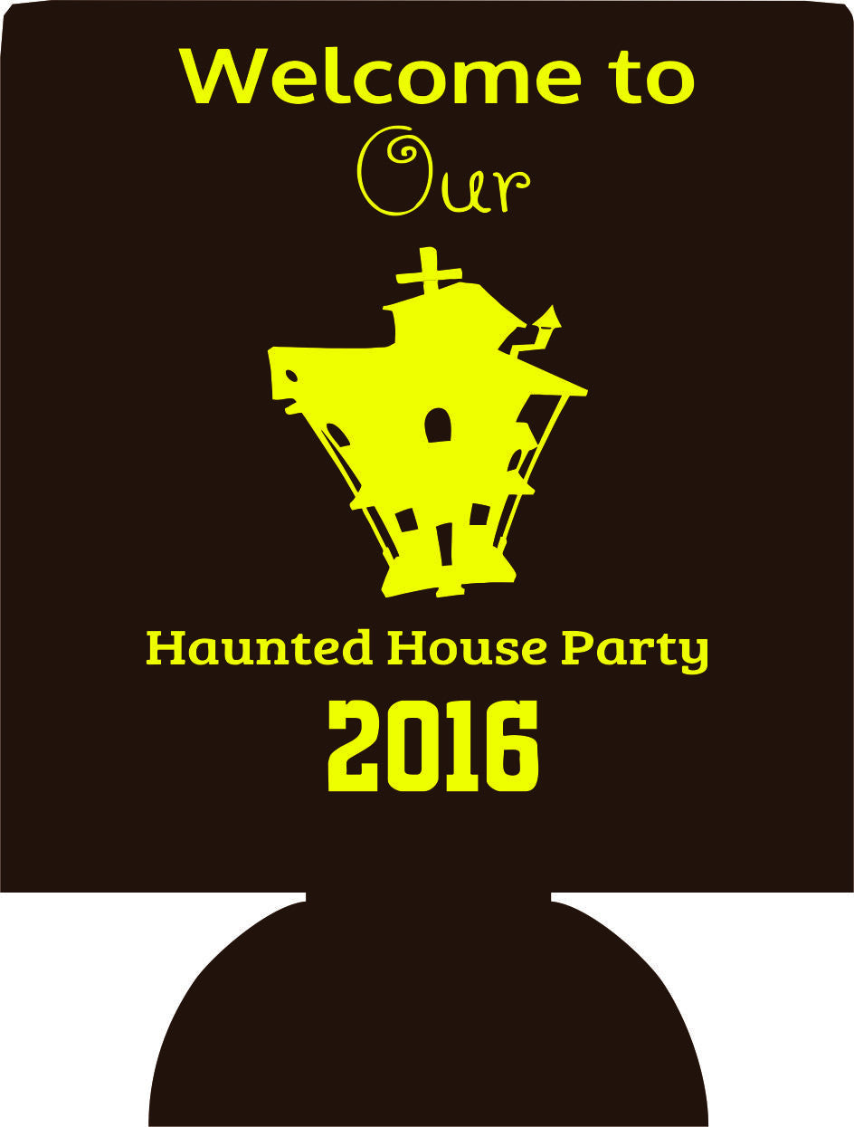 Halloween Haunteed House Party Koozies party favors can coolers