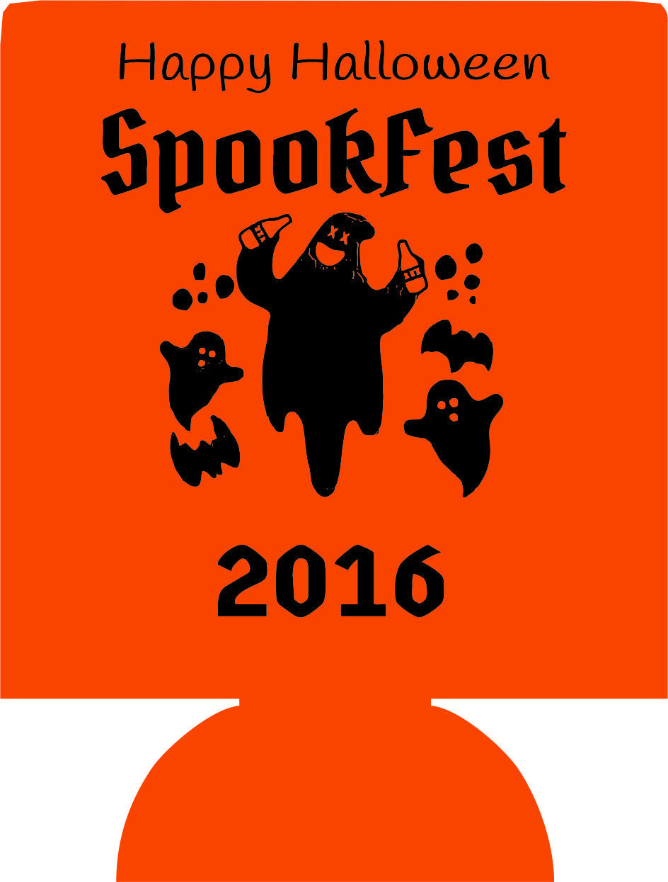 Spookfest Halloween Koozies party favors can coolers