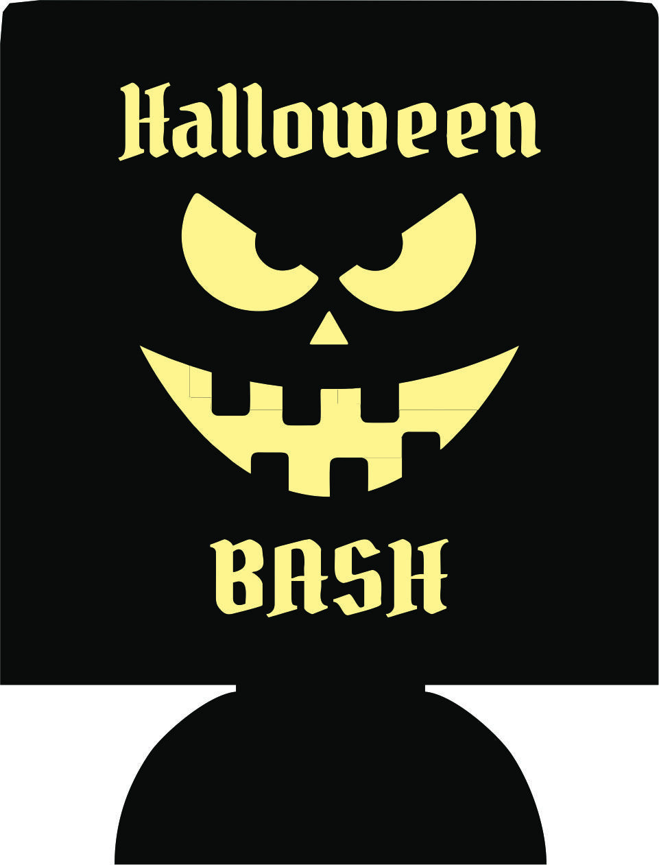 Halloween bash Face Party Koozies favors can coolers