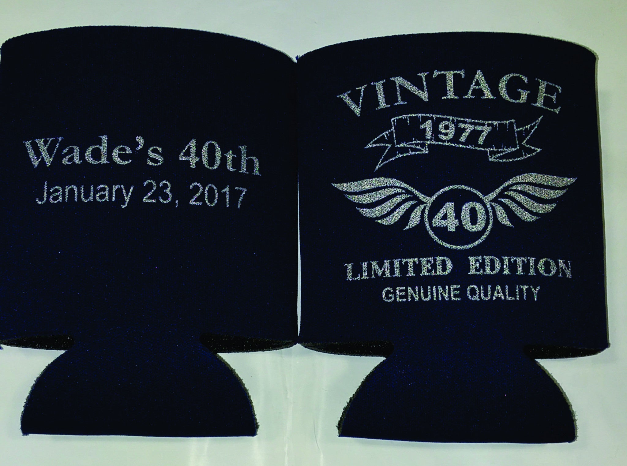 Vintage 40th Birthday party favors can coolers 1118577674