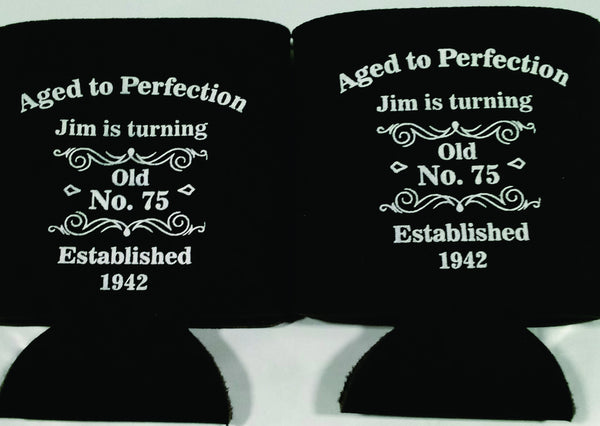 Aged To Perfection 75th Birthday Koozies Party Favors Can