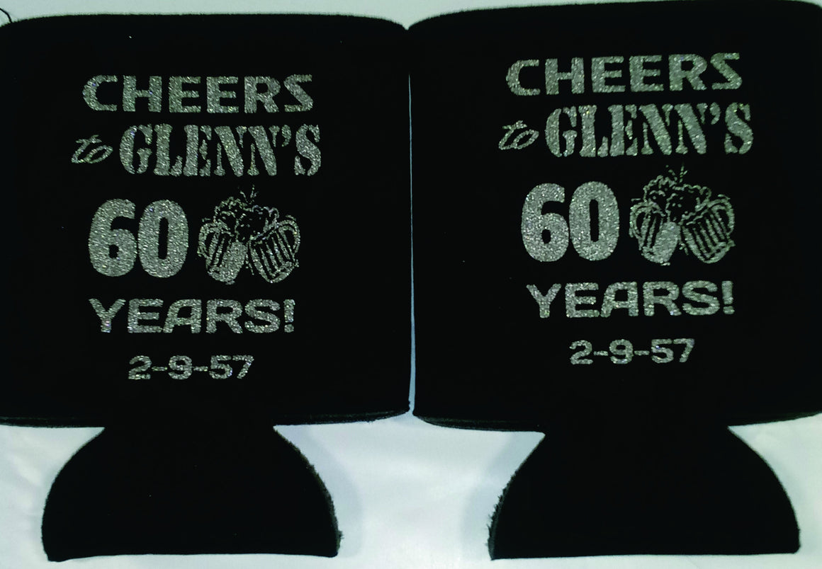 Cheers to 60 years 60th Birthday koozies